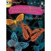 photoshop brushes & creative tools,butterflies - inc. (cor) dover publications - dover pubns
