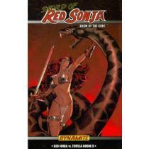 portada dynamite entertainment presents sword of red sonja, doom of the gods