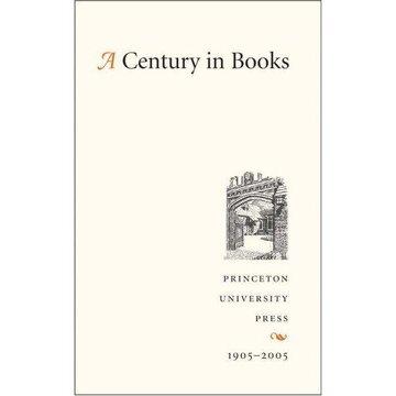 portada a century in books,princeton university press, 1905-2005