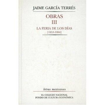 portada obras, iii. la feria de los días 1953-1994