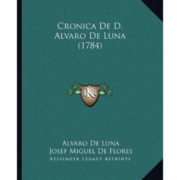portada Cronica de d. Alvaro de Luna (1784)