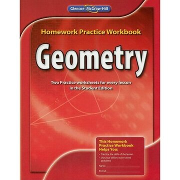portada geometry: homework practice workbook