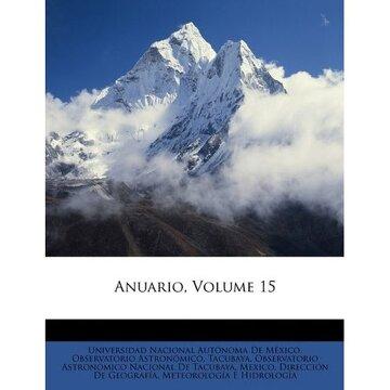 portada anuario, volume 15