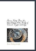 Anima Poet from the Unpublished Note-Books of Samuel Taylor Coleridge - Coleridge, Ernest Hartley - BiblioLife