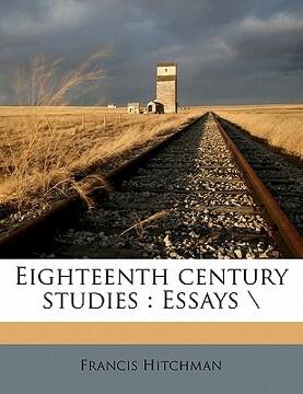 """portada eighteenth century studies: essays """";""""nabu press"""