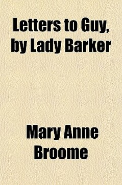 portada letters to guy, by lady barker