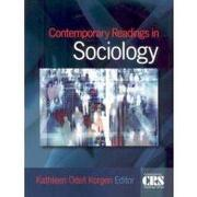 contemporary readings in sociology - kathleen odell (edt) korgen - sage pubns