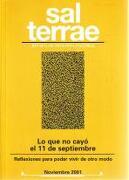 Sal Terrae, Revista De Teología Pastoral. Noviembre 2001. Tomo 89 / 10 (N. 1050) -  - Sal Terrae