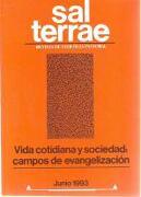 Sal Terrae, Revista De Teología Pastoral. Junio 1993. Tomo 81 / 6 (N. 958) -  - Sal Terrae