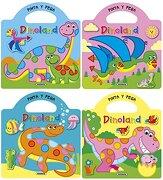 Pinta y Pega Dinoland (4 Títulos) - S.A. (Susae) Susaeta Ediciones - Susaeta