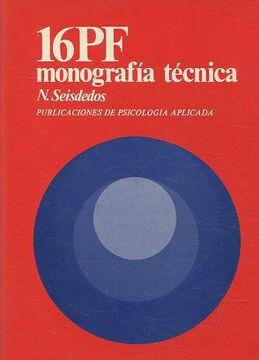 portada 16PF MONOGRAFIA TECNICA . PUBLICACIONES DE PSICOLOGIA APLICADA.