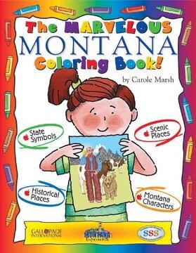 portada The Marvelous Montana Coloring Book! (Montana Experience)