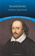shakespeare - a book of quotations - william shakespeare - dover