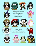 Penguin Careers Coloring Book: Left Hand Version