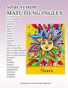 solar system MATUTO NG INGLES Coloring book araw buwan merkuryo Benus lupa Mars Hupiter Saturn Urano Neptuno Pluto edukasyon tool para sa mga bata ... memorya maganda keepsake (Tagalog Edition)