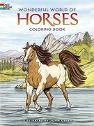 wonderful world of horses coloring book - john green - dover pubns