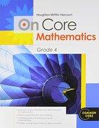 Houghton Mifflin Harcourt On Core Mathematics: Student Workbook Grade 4