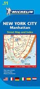 michelin map 11 new york city: manhattan - michelin travel & lifestyle (cor) - natl book network