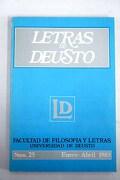 Letras de Deusto, Número 25, Enero-Abril 1983