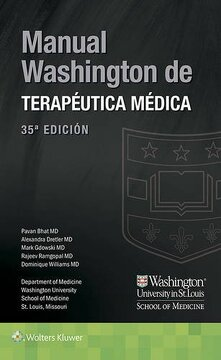 portada Manual Washington de Terapéutica Médica (Lippincott Manual Series) (Spanish Edition)