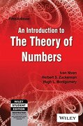 An Introduction to the Theory of Numbers, 5th ed (libro en inglés) - Ivan Niven - W