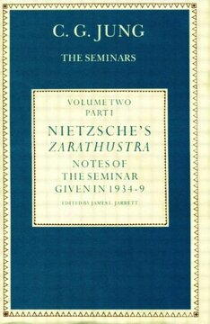 portada Nietzsche's Zarathustra: Notes of the Seminar Given in 1934-1939 by C. Gi Jung: Notes of the Seminars Given in 1934-39: Volume 1 (libro en Inglés)