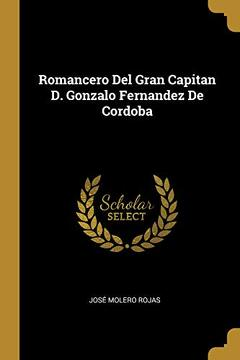 portada Romancero del Gran Capitan D. Gonzalo Fernandez de Cordoba