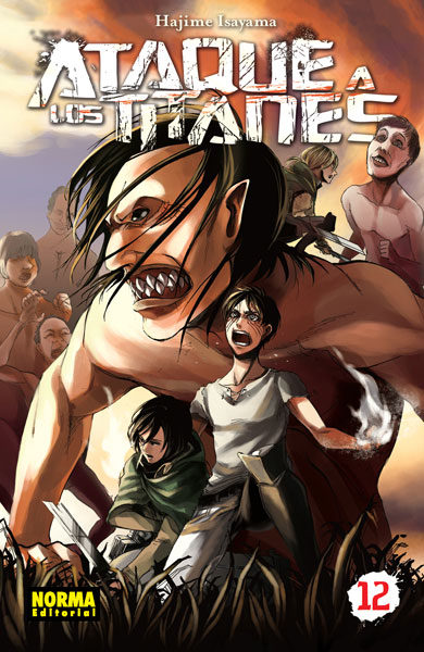 Ataque a los titanes 12 (manga - ataque a los titanes); hajime isayama