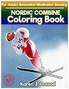 Nordic Combine Coloring Book for Adults Relaxation  Meditation Blessing: Sketches Coloring Book Grayscale Images (libro en inglés)
