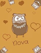Nova: Personalized Nova Name owl Themed Sketchbook or Blank Book Journal. Unique owl Personalised Notepad. Personalisiert Eule (libro en inglés)