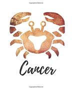 Cancer: Lined Journal Brown (libro en inglés)