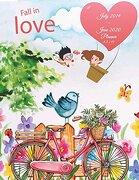 Fall in Love: July 2019-June 2020 Planner 8. 5 x 11: Flowers Garden, Calendar Book July 2019-June 2020 Weekly (libro en inglés)