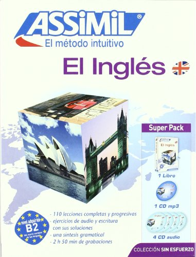 Inglés sin esfuerzo: libro + 1 cd mp3 + 4 cd audio; assimil superpa