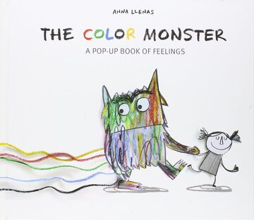 portada The Color Monster: A Pop-Up Book of Feelings (libro en Inglés)