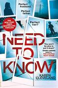 Need to Know (libro en inglés) - Karen Cleveland - Transworld Publishers