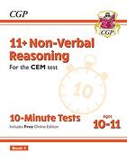 New 11+ cem 10-Minute Tests: Non-Verbal Reasoning - Ages 10-11 Book 1 (libro en inglés)