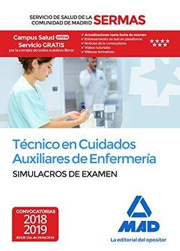 portada Técnico en Cuidados Auxiliares de Enfermería del Servicio de Salud de la Comunidad de Madrid. Simulacros Examen