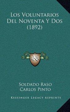 portada Los Voluntarios del Noventa y dos (1892)