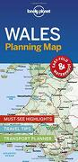 Lonely Planet Wales Planning map (libro en Inglés)