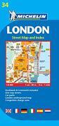 Plano London: Street map and Index (Planos Michelin) (libro en Inglés) - Michelin - Michelin