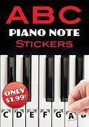 A b c Piano Note Stickers (libro en Inglés)