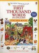 The Usborne First Thousand Words in English: Sticker Book (First Thousand Words Stickr bk) (libro en Inglés) - Heather Amery - Usborne