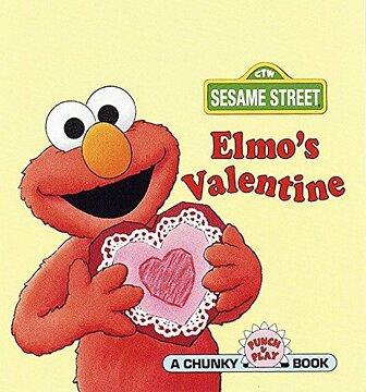 portada Sesst - Elmos Valentine (Sesame Street Chunky Pocket Books) (libro en Inglés)