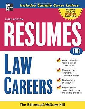 portada Resumes for law Careers (libro en Inglés)