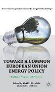 Toward a Common European Union Energy Policy: Problems, Progress, and Prospects (libro en Inglés) - vicki l. (edt) birshfield - Palgrave Macmillan