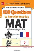 Mcgraw-Hill Education 500 mat Questions to Know by Test day (Mcgraw-Hill Education 500 Questions) (libro en Inglés)