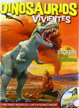 portada Dinosaurios Vivientes (con Stickers + DVD)
