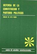 Defensa de la Constitución y Partidos Políticos - Ignacio Otto Pardo - Centro De Estudios Constitucionales
