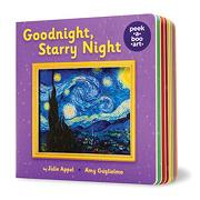 Goodnight, Starry Night (Peek-A-Boo Art) (libro en Inglés)