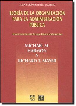 portada Teoria de la Organizacion Para la Administracion Publica